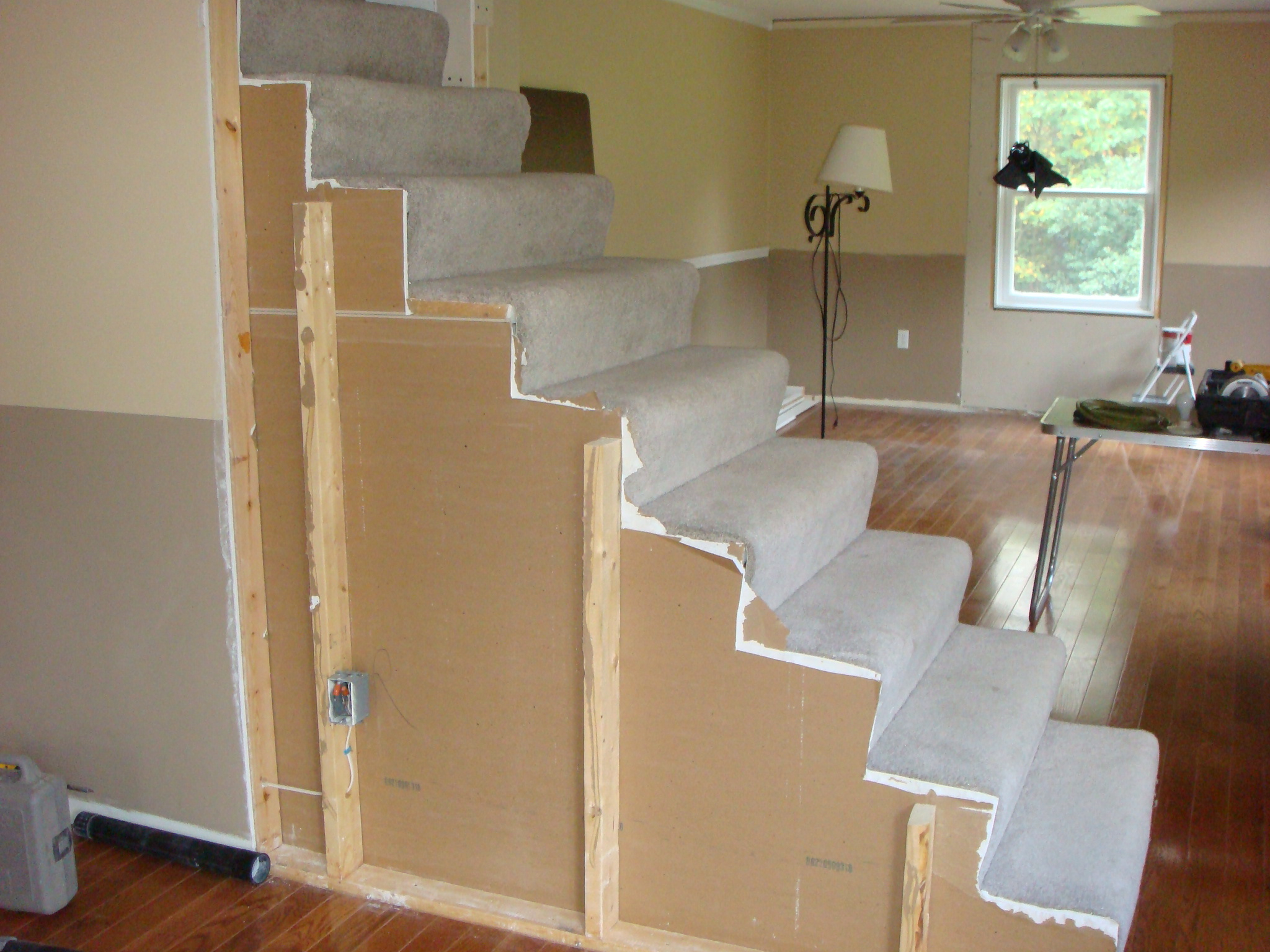 Carpet To Hardwood Stairs Remodelaholic From Carpet To Wooden Stair Treads Guest Remodel